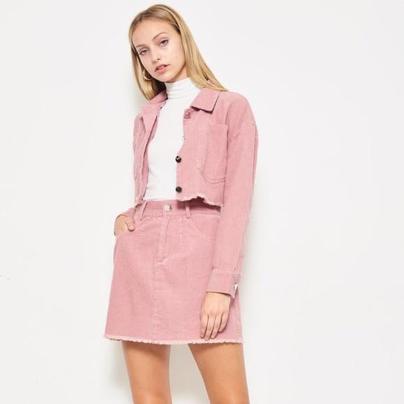 99039d8035 Jackets & Coats | Corduroy Jacket Skirt 2 Piece Set | Poshmark
